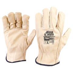 Pro Choice Riggamate Beige Premium Cowgrain Gloves