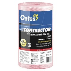 Oates C/Tract X/Thk Wipes Roll Red