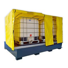 Spill Crew Double Ibc Powder Coated Steel Bund – Cover
