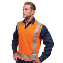 Tru Workwear Safety Vest – Day / Night Use - Orange