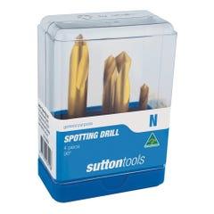 Sutton D175-SETS Spotting Drill Set - 90° Metric Plastic Case 5 Pieces