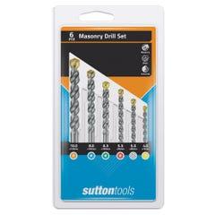 Sutton D600-SETS Masonry Drill Set - Standard fixing Metric Plastic Case 6 Pieces