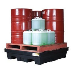 Spill Crew Drum Bund Polyethylene With Removable Grate – Four Drum