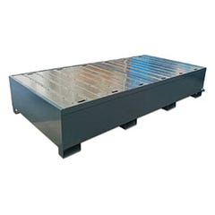 Spill Crew Double LBC Spill Pallet - Powder Coated Steel