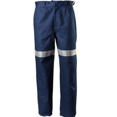 Tru Workwear Heavyweight Cotton Drill Work Trousers with 3M Tape - Navy