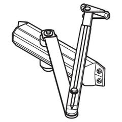Assa Abloy - 2024 Series Std Hold Open Non Backcheck With Parallel Arm Bracket - Silver