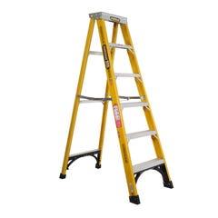 Gorilla Single Sided 6 Step Ladder Industrial F/Glass