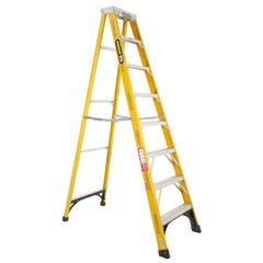 Gorilla Single Sided 8 Step Ladder Industrial F/Glass