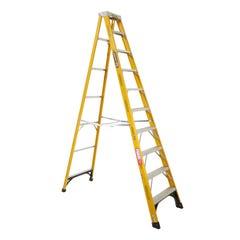 Gorilla Single Sided 10 Step Ladder Industrial F/Glass