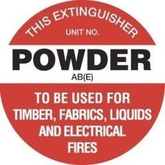 Accumax Fire Extinguisher Marker Powder AB(E) White 200mm
