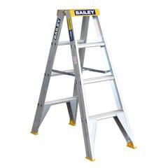 Bailey Step Ladder Double Sided Aluminium 1.2m 150kg