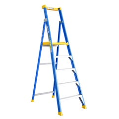 BaileyPlatform Step Ladder 5 Step Fibreglass 150kg