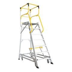 Bailey Access Platform 7 Step Aluminium 590mm x 800mm x 1933mm 200 kg