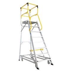Bailey Access Platform 8 Step Aluminium 590mm x 800mm x 2209mm 200 kg