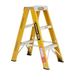 Gorilla Double Sided Step Ladder Industrial F/Glass 150kg 0.9m