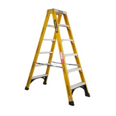 Gorilla Double Sided Step Ladder Industrial F/Glass 150kg 1.8m
