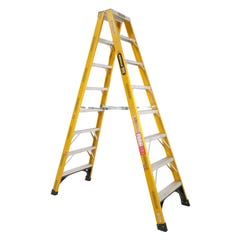 Gorilla Double Sided Step Ladder Industrial F/Glass 150kg 2.4m