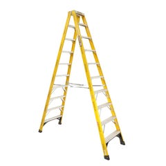 Gorilla Double Sided Step Ladder Industrial F/Glass 150kg 3.0m