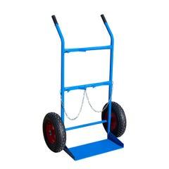 Richmond Gas Bottle Trolley with Pneumatic Wheels