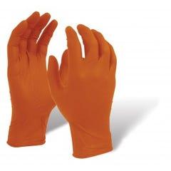 Maxisafe Orange Shield Extra Heavy Duty Nitrile Gloves, 100 Pack