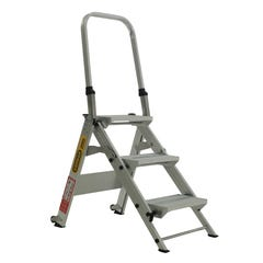 Gorilla 150kg Industrial 3 Step Stair Aluminium Step Ladder