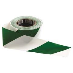 Pro Choice Barricade Tape - 100m x 75mm Green & White
