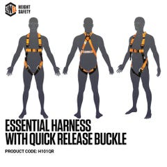 LINQ Essential Harness with Quick Release Buckle Standard (M L)