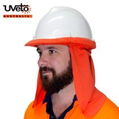 Uveto Hard Hat Flap Fire Retardant - Orange