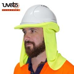 Uveto Hard Hat Flap Hi Vis Micro Mesh - Yellow