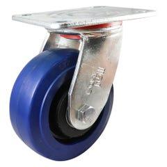 Easyroll Elastic Rubber J3 Series Castor 125mm Blue