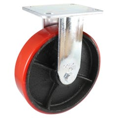 Easyroll Urethane on Cast Iron J2 Series Cas 200 x 50mm Red