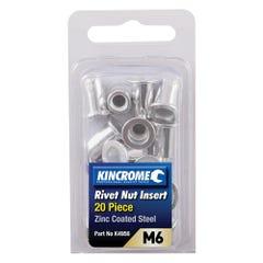 Kincrome Rivet Nut Insert M6 (Zinc Coated Steel) - 20 Pack