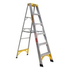 Gorilla Single Sided Step Ladder Industrial 150kg 1.8m