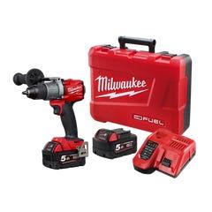 Milwaukee M18 FUEL 13mm Hammer Drill/Driver Kit