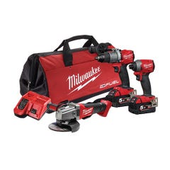 Milwaukee M18 FUEL 3 Piece Power Pack 3A2