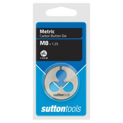 """Sutton M401 Button Dies - M - 1.5"""" Diameter Thread Size 10 mm x Pitch 1.5"""