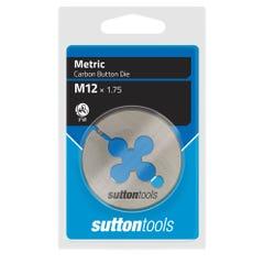 """Sutton M402 Button Dies - M - 2"""" Diameter Thread Size 22 mm x Pitch 2.5"""