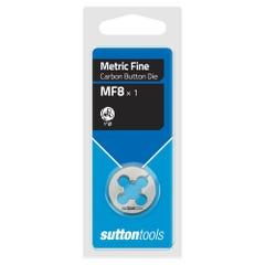 """Sutton M403 Button Dies - MF - 1"""" Diameter Thread Size 10 mm x Pitch 1"""