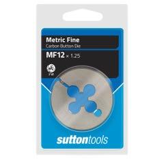 """Sutton M405 Button Dies - MF - 2"""" Diameter Thread Size 14 mm x Pitch 1.25"""