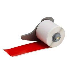 Brady Indoor Outdoor Vinyl Labels Red 50mm x 15.24m