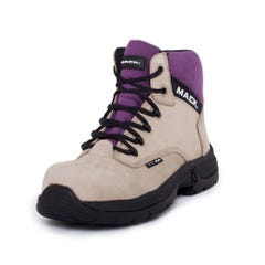 Mack Axel Womens Lace-Up Safety Boots - Fawn Purple