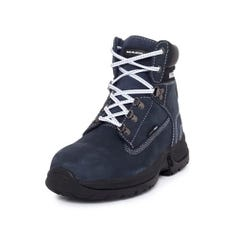 Mack Brooklyn Womens Lace-Up Safety Boots - Navy / White