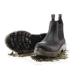 Mack Tradie Slip-On Safety Boots - Black