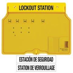 Master Lock Padlock Stations - 4 Lock Station. Contains 4 X Padlocks, 2 X Lockout Hasps, 12 X Do Not Operate Danger Tags (1pk)