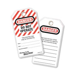 """Master Lock Safety Tags - """"Do Not Operate"""" Tags (Qty x 12)"""