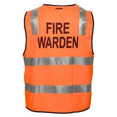 Portwest Fire Warden Zip Vest Day / Night Orange