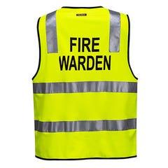 Portwest Fire Warden Zip Vest Day / Night - Yellow