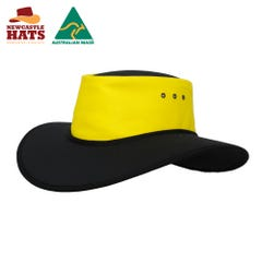 Newcastle Hats Wide Brimmed Nullarbor Hat Safety - Yellow/Black
