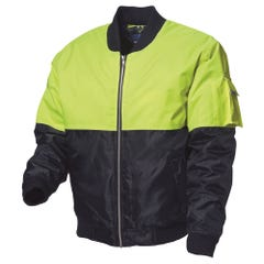 WS Workwear Hi-Vis Waterproof Flying Jacket - Lime / Navy