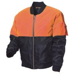 WS Workwear Hi-Vis Waterproof Flying Jacket - Orange / Navy